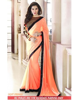 Bollywood Replica-Sophie Chaudhary Designer Light Orange Georgette Party Wear Saree-9311-F(SIA-S-9200)