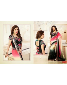 Bollywood Replica-Sophie Chaudhary Designer Multi-Colour Satin Chiffon Party Wear Saree-9313(SIA-S-9200)