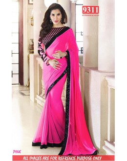 Bollywood Replica-Sophie Chaudhary Designer Pink Georgette Party Wear Saree-9311-G(SIA-S-9200)