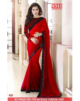 Bollywood Replica-Sophie Chaudhary Designer Red Georgette Party Wear Saree-9311-H(SIA-S-9200)