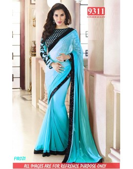 Bollywood Replica-Sophie Chaudhary Designer Sky Blue Georgette Party Wear Saree-9311-C(SIA-S-9200)