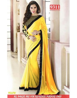 Bollywood Replica-Sophie Chaudhary Designer Yellow Georgette Party Wear Saree-9311-I(SIA-S-9200)