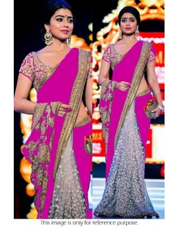 Bollywood Replica - Shriya Saran Designer Pink Half & Half Party Wear Saree - 94-C( SIA )