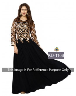 Bollywood Replica-Designer Black Georgette Embroidered Party Wear Dress - KD-1106 ( SIA-KD )