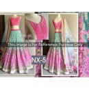Bollywood Replica - Designer Pink & Sky Blue Embroidered Net Exclusive Lehenga Choli - NX-5 - ( SIA-NX )