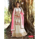 Festival Wear Net Off White Lehenga Choli - 90005