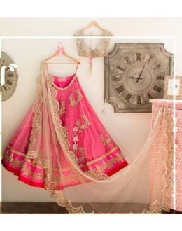 Bollywood Replica - Wedding Wear Pink Net Lehenga Choli - 101