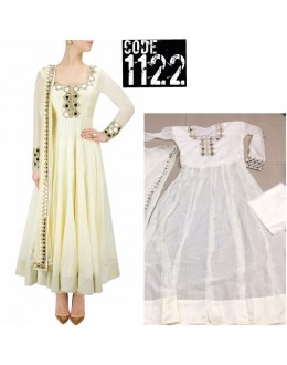 Bollywood Replica - Party Wear White Soft Georgette Anarkali Suit  - 1122