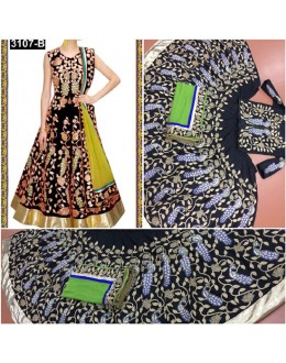 Bollywood Replica - Wedding Wear Black Embroidered Lehenga Choli - 3107-B