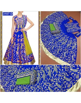 Bollywood Replica - Designer Blue Embroidered Lehenga Choli - 3107-D