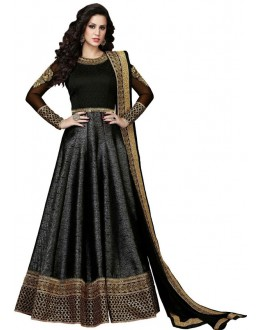 Bollywood Replica - Designer Black Banglori Silk Anarkali Suit  - 601