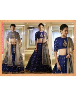 Bollywood Replica - Wedding Wear Blue Silk Lehenga Choli - 6070