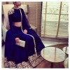 Bollywood Replica - Wedding Wear Navy Blue Raw Silk Lehenga Choli - 9115-C