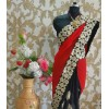 Bollywood Replica - Wedding Wear Red & Black Georgette Saree - 9722