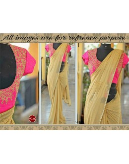 Bollywood Replica - Wedding Wear Beige & Pink Georgette Saree - 9726