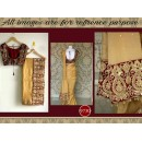 Bollywood Replica - Designer Beige & Maroon Georgette Saree - 9730