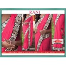 Bollywood Replica - Wedding Wear Rani Pink Lycra Silk Saree - 9803-Rani