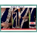 Bollywood Replica - Wedding Wear Navy Blue Lycra Silk Saree - 9803-NB
