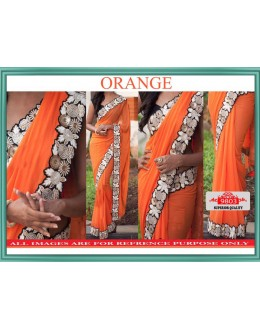 Bollywood Replica - Wedding Wear Orange Lycra Silk Saree - 9803-Orange