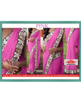 Bollywood Replica - Wedding Wear Pink Lycra Silk Saree - 9803-Pink
