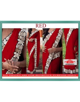 Bollywood Replica - Wedding Wear Red Lycra Silk Saree - 9803-Red