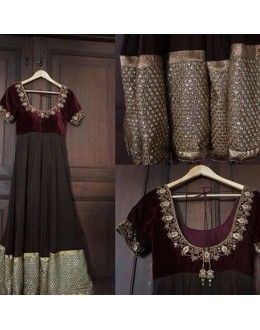 Bollywood Replica - Wedding Wear Maroon Georgette Anarkali Suit  - A01