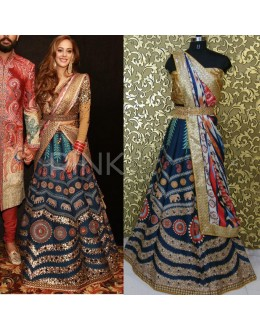 Bollywood Replica - Hazel Keech In Designer Silk Lehenga Choli - AB-61