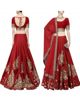 Bollywood Style - Bridal Wear Red Designer Lehenga Choli  - AB-66