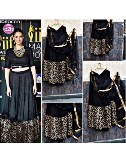 Bollywood Replica - Aditi Rao In Designer Black Net Crop Top Lehenga - AR01