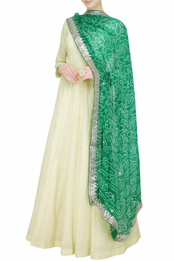 Bollywood Style - Party Wear Off-White Anarkali Suit - BANDANI