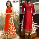 Bollywood Replica - Wedding Wear Floral Red One-Piece Gown - BWD220-1