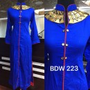 Bollywood Inspired - Ready-Made Designer Blue Long Kurti - BDW223-1