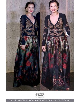 Bollywood Inspired - Dia Mirza In Multi-Colour Printed Gown - BT-150