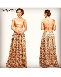 Bollywood Replica -  Party Wear Multi-Colour Silk Lehenga Choli  - Bolly-98C