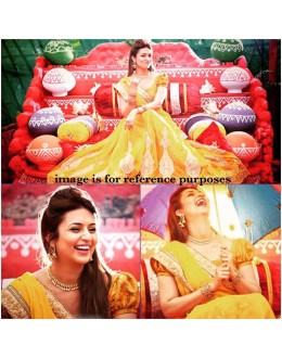 Bollywood Replica - Divyanka Triphati In Yellow Lehenga Saree - DT01