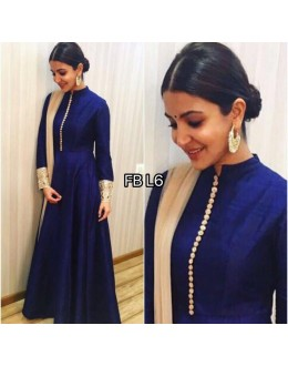 Bollywood Replica - Anushka Sharma In Designer Blue Long Anarkali Suit  - FB-L6