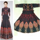 Bollywood Style - Party Wear Multi-Colour Twill Silk Gown - GM05