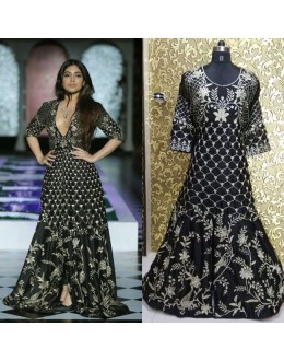Bollywood Replica - Wedding Wear Black Indo-Western Suit - IW