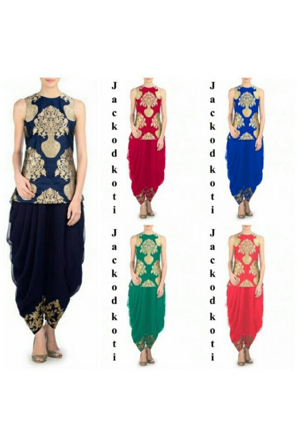 Bollywood Replica - Party Wear Jacquard Silk Dhoti Suit- J01