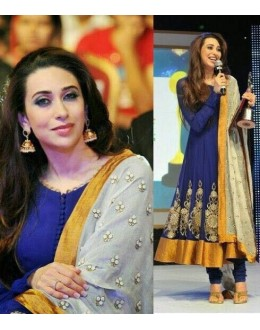 Bollywood Style -Kaishma Kapoor In Blue Anarkali Suit - KARISMA
