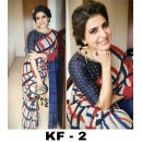 Bollywood Inspired - Party Wear Multi-Colour Printed Saree - KF-2