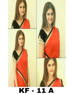 Bollywood Replica - Party Wear Orange Georgette Saree - KF-11 A
