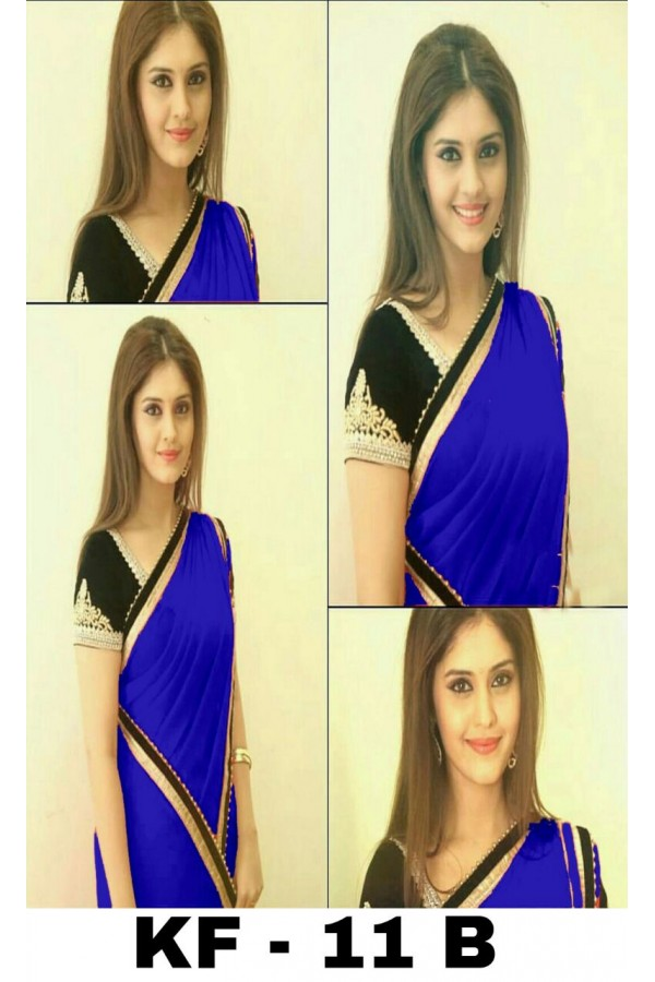 Bollywood Replica - Party Wear Blue Georgette Saree - KF-11 B