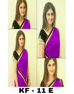 Bollywood Replica - Party Wear Purple Georgette Saree - KF-11 E