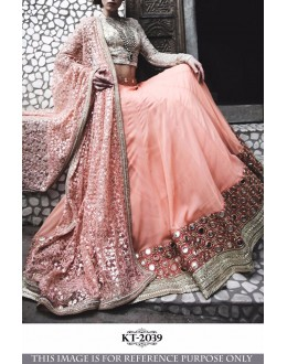 Bollywood Replica - Wedding Wear Peach Lehenga Choli - KT-2039
