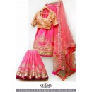 Bollywood Style - Wedding Wear Pink Silk Lehenga Choli  - KT-2052