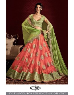 Bollywood Replica - Bridal Green & Peach Lehenga Choli - KT-2062