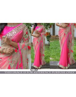 Bollywood Replica - Wedding Wear Cream & Pink Saree - KT-3121
