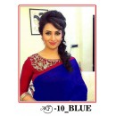 Bollywood Replica - Divyanka Triphati In Blue Chanderi Cotton Saree - MF-10-Blue
