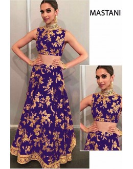 Bollywood Replica - Deepika Padukone In Purple Silk Lehenga Choli -  Mastani04